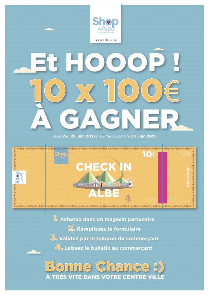 JEU CONCOURS Albertville Savoie centre-ville check in Albé